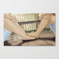 feet Canvas Prints featuring Feet by wreckthisjessy