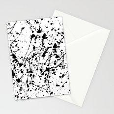 Splat Black on White Stationery Cards