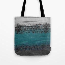 Teal and Gray Abstract Tote Bag