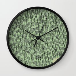 Forest house pattern Wall Clock