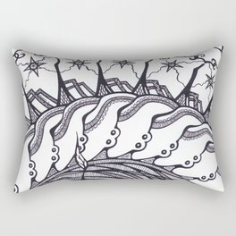 Cinnamon Bun Sun Rectangular Pillow