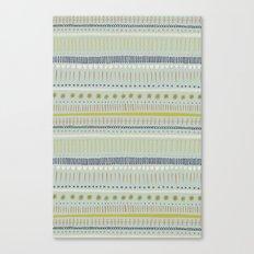 Teal & Green Pattern Canvas Print