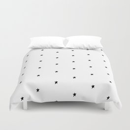 Black and white stars Duvet Cover