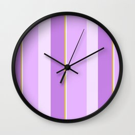 Purple Stripe Pattern Wall Clock