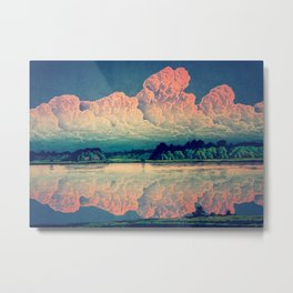 Admiring the Clouds in Kono Metal Print