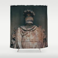 shield Shower Curtains featuring Shield by HMS James