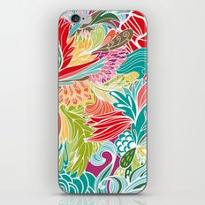 Red Fantasy Flowers iPhone & iPod Skin
