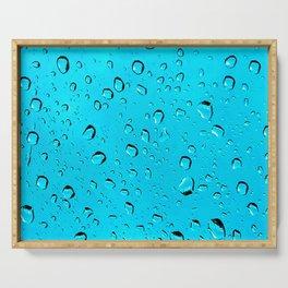 Blue Bubbles Serving Tray