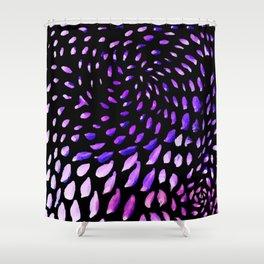 Leaf Me Alone, In Purple Shower Curtain