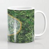 tree rings Mugs featuring Tree Rings by Zoë Miller