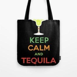 Keep Calm Tequila - black Tote Bag