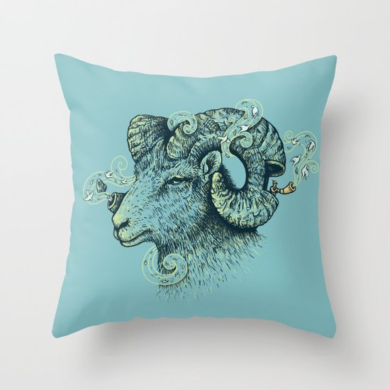 Big Horn Invocation Throw Pillow