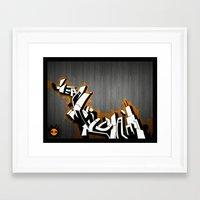 jay fleck Framed Art Prints featuring Jay by Rudie Vasquez