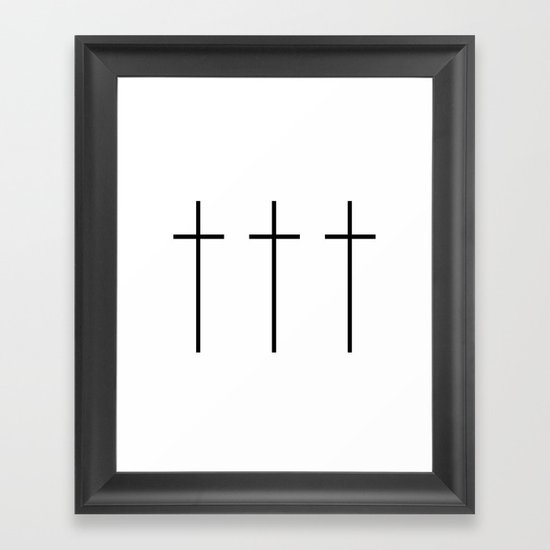 CROSSES (WHITE) Framed Art Print