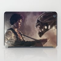 aliens iPad Cases featuring Aliens by Jehzbell Black