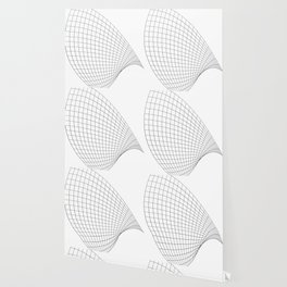 Abstract wireframed waving surface Wallpaper