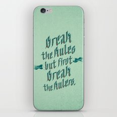 break the rules iPhone & iPod Skin