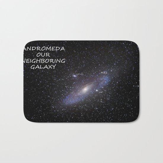 Galaxy Andromeda Bath Mat