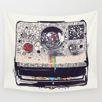 star Wall Tapestries featuring COLOR BLINDNESS by Huebucket
