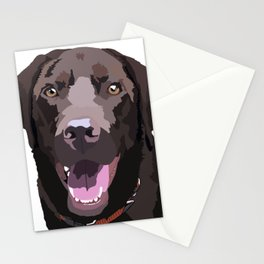Libby the Chocolate Lab Stationery Cards