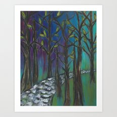 Illuminated Path Art Print