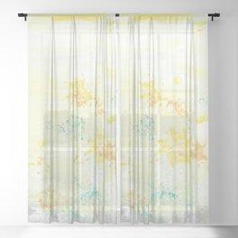 Botanical Impressions: DANDELIONS Sheer Curtain