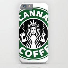 I Love Cannabis & Coffe iPhone Case