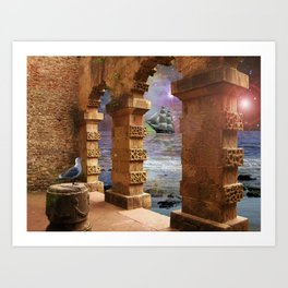 The Temple of Poseidon Art Print