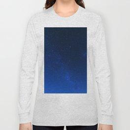 Blue Night Sky (Color) Long Sleeve T-shirt