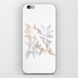 Rustic Branches - Monogram N iPhone Skin