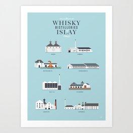 Whisky Distilleries of Islay Art Print