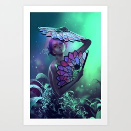 The art of the leaf-stripping Art Print