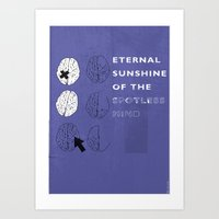 eternal sunshine of the spotless mind Art Prints featuring Eternal Sunshine of the Spotless Mind by Ben Mcleod