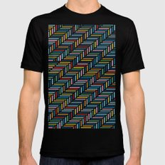 Herringbone Color Mens Fitted Tee Black MEDIUM