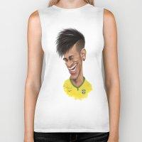 neymar Biker Tanks featuring Neymar - Brazil by Sant Toscanni