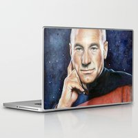 picard Laptop & iPad Skins featuring Captain Picard by Olechka