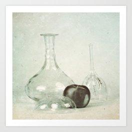 Glass still life Art Print