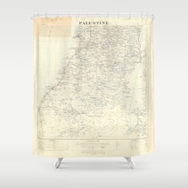 Old 1924 Historic State of Palestine South Map Shower Curtain