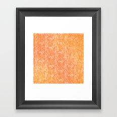 orange print  Framed Art Print
