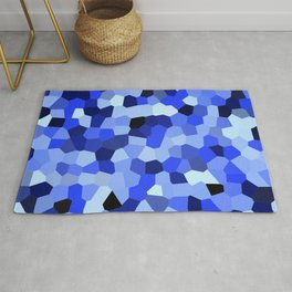 Geometric Blues Rug