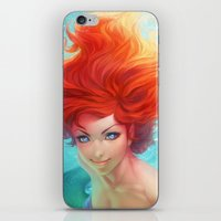 under the sea iPhone & iPod Skins featuring Under The Sea by Artgerm™