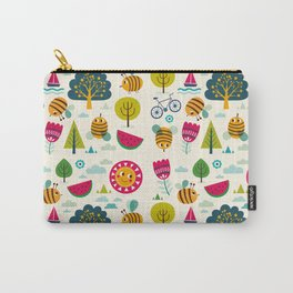Summer and Bees Carry-All Pouch