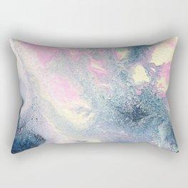 Dark gray & pink abstract II Rectangular Pillow