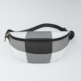 Big Black and White Buffalo Plaid Fanny Pack
