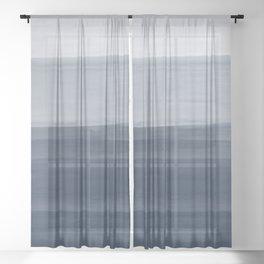 Touching Indigo Blue Watercolor Abstract #1 #painting #decor #art #society6 Sheer Curtain