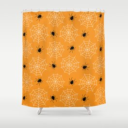 Halloween Spider Web Seamless Pattern Shower Curtain