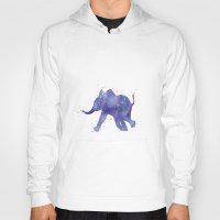 baby elephant Hoodies featuring Baby Elephant by Carma Zoe