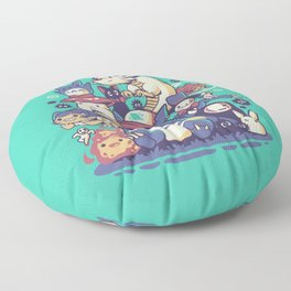 Creatures Spirits and friends Floor Pillow