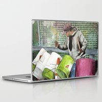 drums Laptop & iPad Skins featuring Drums in the street by aurora villaviejas