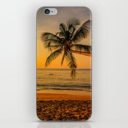 Beautiful Sunset over the Beach iPhone Skin